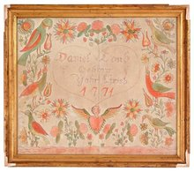 Fraktur, Pennsylvania Dutch, dated 1771