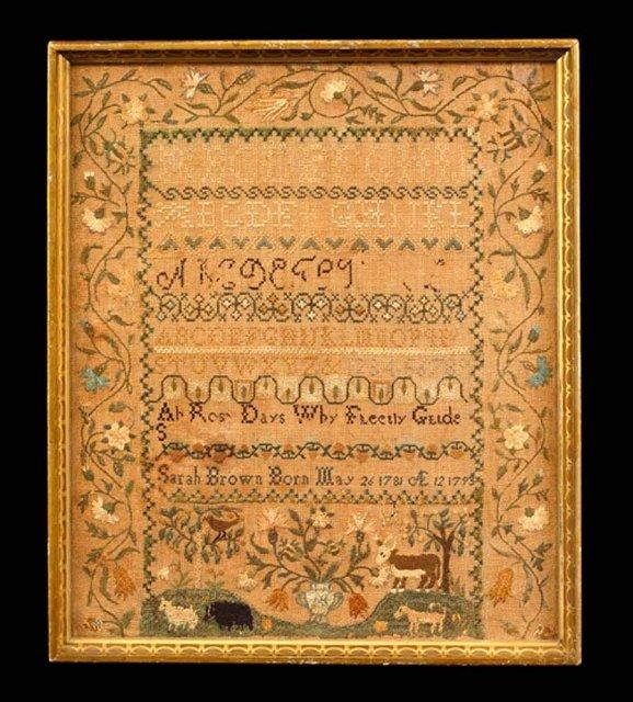 Sampler, American c.1781