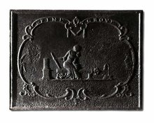 Fireback, 19th C. American, Stove End,