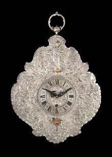Clock, Wall, German, Teleruhr Silver & Brass c.1850
