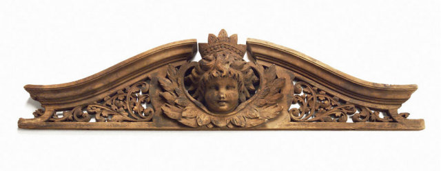Pediment, A large triangular, Cherub c,1880