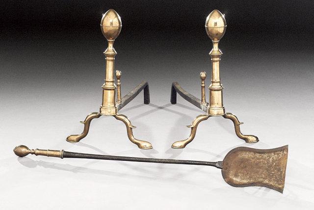 Andirons & Tools, Bell Metal & Iron, Lemon top c.1800