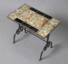 Table, Side, Iron and Tile, American c.1940
