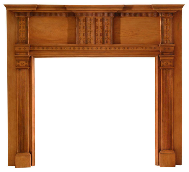 2003/969 Chester County Chip Carved Mantel c.1800-1820