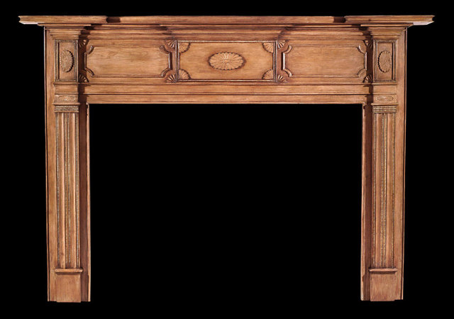 2004/992 Hudson Valley Neoclassic Fan Mantel c.1800-1815
