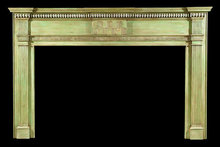 2005/1021 Federal Chipped Carved Mantel c.1800-1815