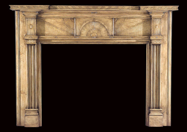 2006/1029 Hudson Valley Fan Mantel c.1805-1820