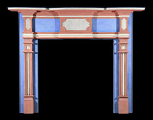 2006/1036 New England Painted Fireplace Mantel c.1810-1820