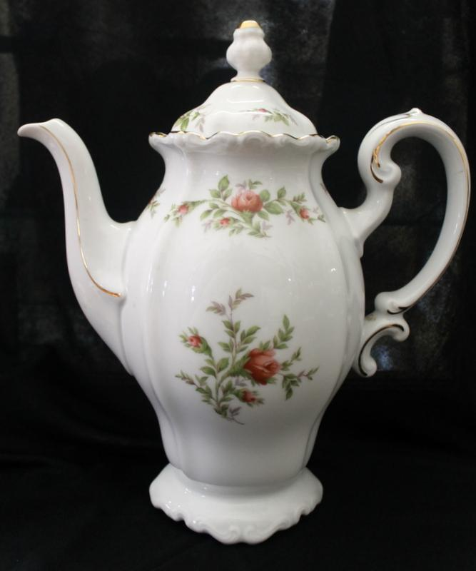 Haviland Chocolate or Tea Pot Moss Rose Pattern