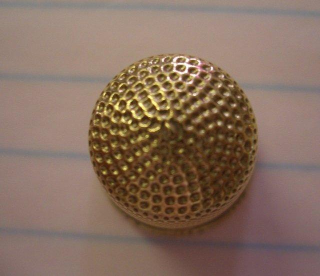 14K Gold Thimble