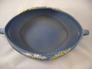 Roseville Pottery Console Bowl Blue Freesia