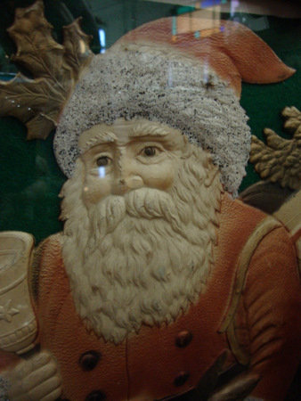 Santa Die Cut and heavily Embossed