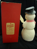 Snowman Paper Machie in Box Kentucky Tavern