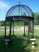 Black Cast Iron Gazebo