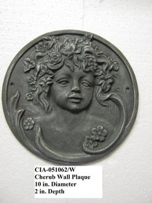 Cherub Wall Decoration- Round