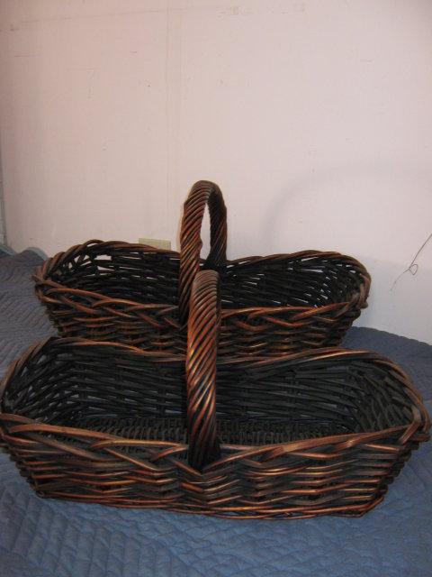Baskets- Set of 2- Flat Wicker
