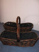 Baskets- Set of 2- Flat Wicker