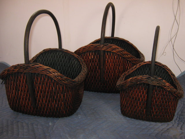 Baskets Wicker Set of 3