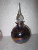 Glass Perfume Bottle- Iridescent Tiffany Style
