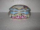 Jewelry Box Rose Hand Painted Porcelain