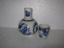 Porcelain Blue Bird Night Water Set
