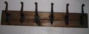 Wooden and Iron Coat Hanger- 6 hooks