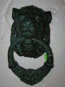 Cast Iron Lion Head Doorknocker