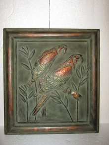 Parrot Hanging Wall Tin