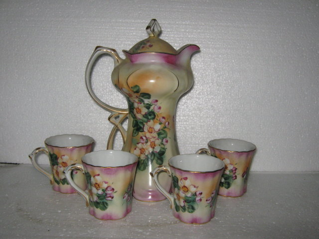 Tea set, Painted, Porcelain