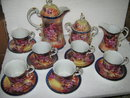 Tea Set- Porcelain- Grape pattern
