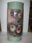 Green Floral Umbrella Stand