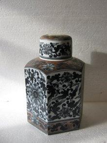 Porcelain Canister- Modern vintage look
