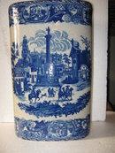 Flow Blue Porcelain Umbrella Stand
