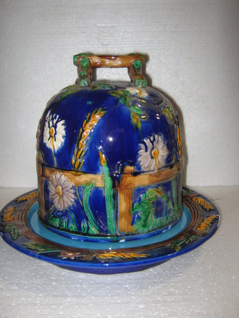 Majolica Cake Platter and Cover