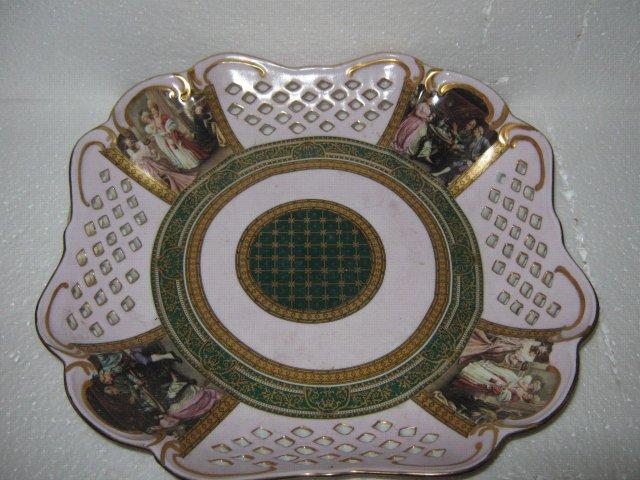 Pocelain Platter- Pink Victorian Style