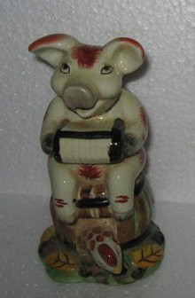 Porcelain Musical Pig Figure
