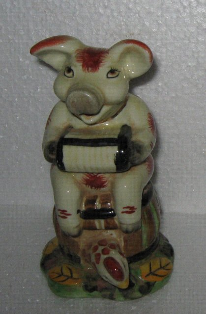 Porcelain Musical Pig Figure
