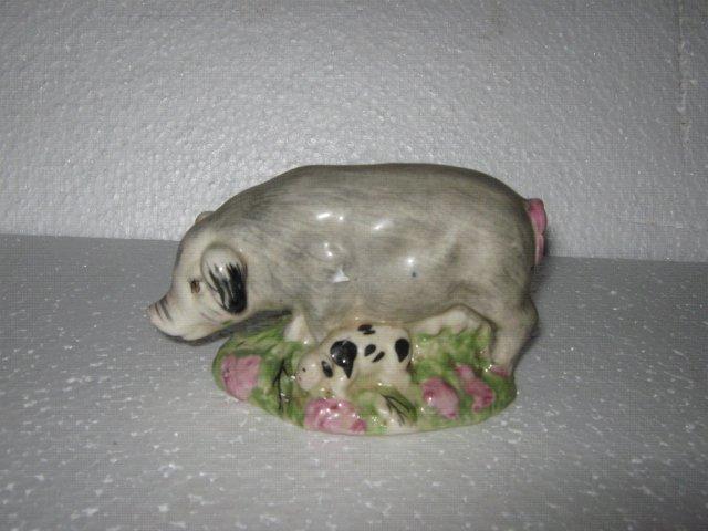 Porcelain Pig Figure