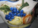 Majolica Style Porcelain Basket with Vegatables