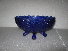 Blue Glass Bowl with feet