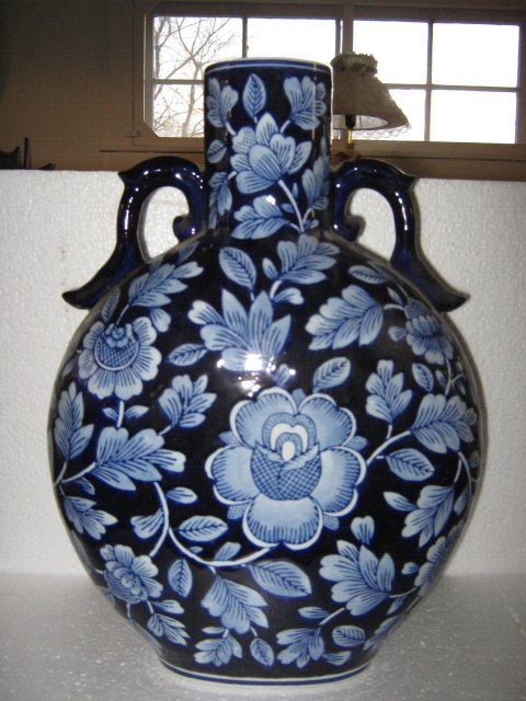 Porcelain Blue Moon Vase