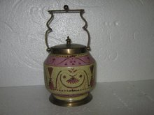 Porcelain and Bronze Tabacco/Biscuit Jar