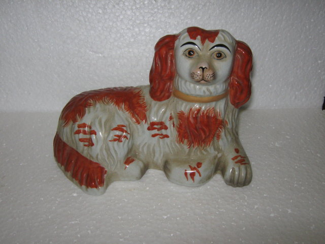 English Staffordshire Style Dog Figures