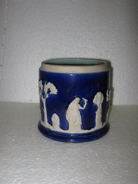 Porcelain Canister- Copy of Wedgewood or Jasperware