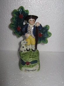 English Stafforshire Style Shepard figurine