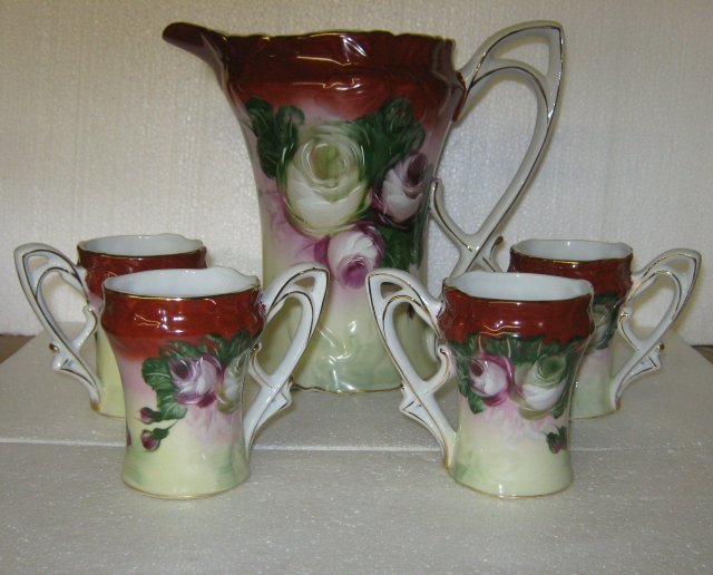Floral Pitcher and Glasses Set