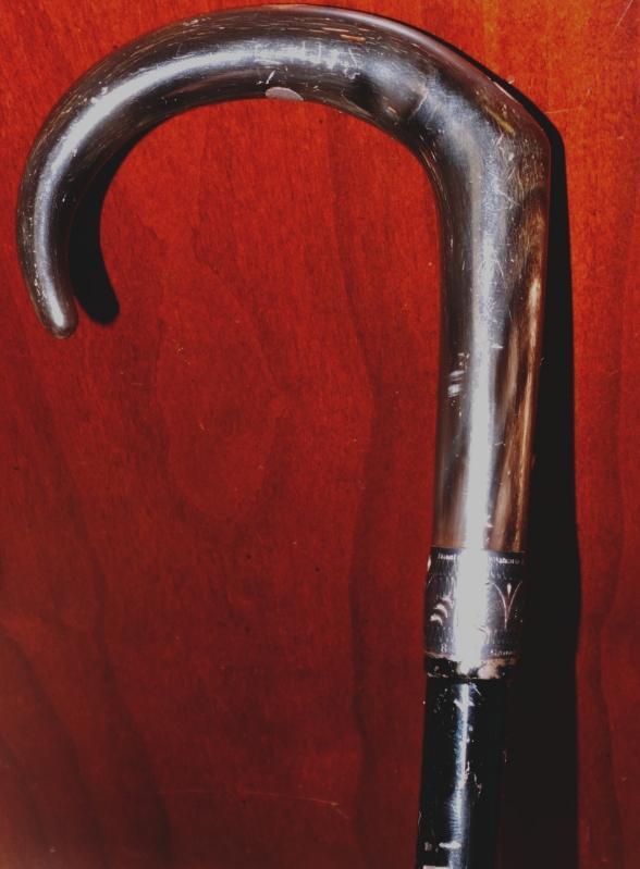 Antique c 1895 Black French Gun-Cane Walking Stick French