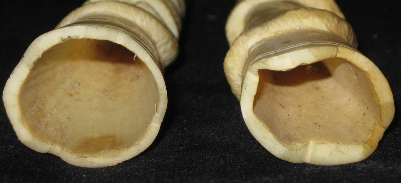 Pair (2) Antique Indian Ivory Legs