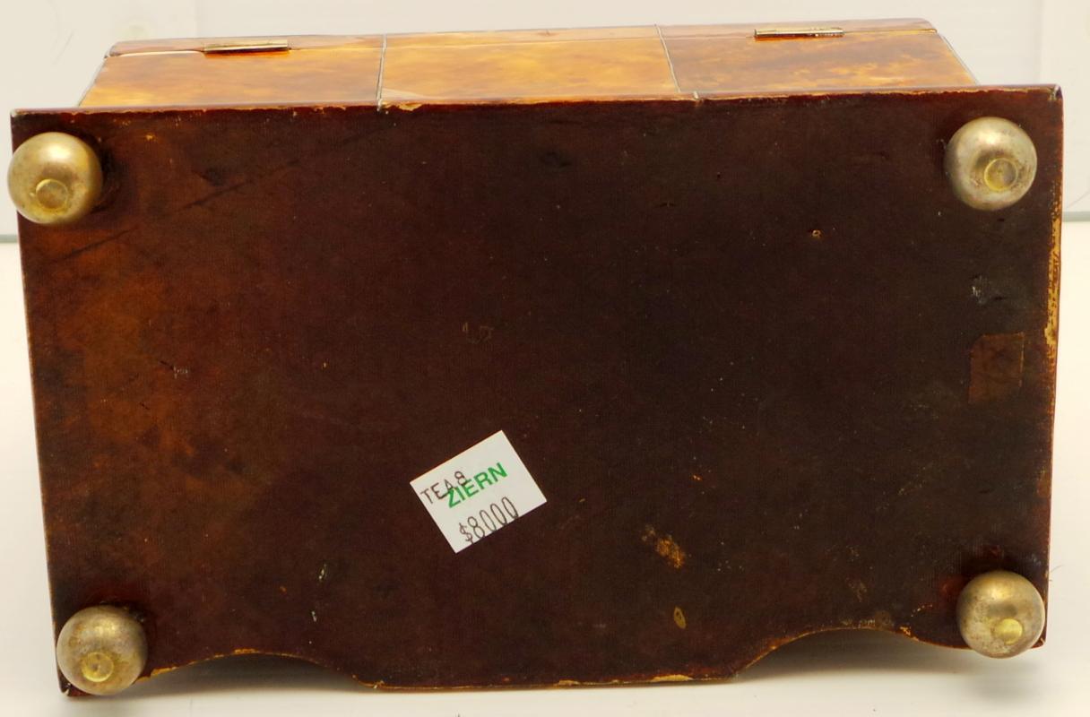 Early Victorian  Tortoiseshell  Tea Caddy