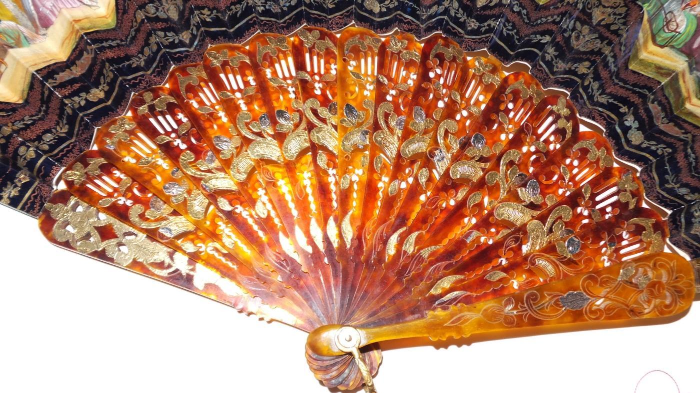 Lovely 19th Cen. Hand Painted Fan
